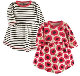 Touched by Nature Baby Girls' Long-Sleeve Dresses, 2-pack