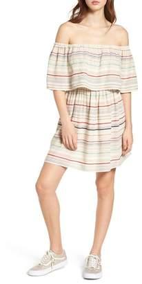 BP Stripe Off the Shoulder Dress