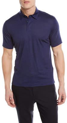 Z Zegna Wool-Linen Polo Shirt