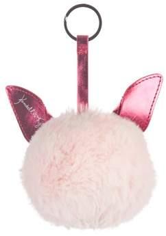 KENDALL + KYLIE for Walmart Chelsea Pink Faux Fur Pom Pom Keychain