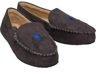 Ralph Lauren Mens Dezi Moccasin Slippers Grey