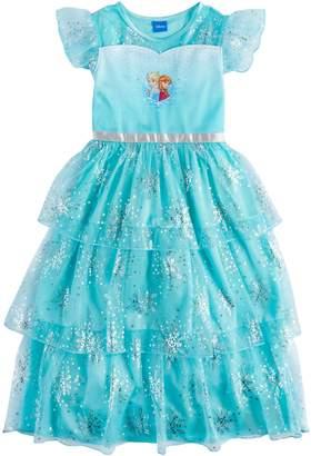 Disney Disney's Frozen Elsa & Anna Girls 4-10 Dress-Up Nightgown
