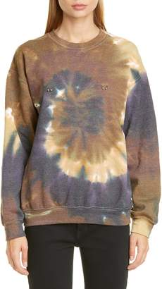 Collina Strada Pierced Tie Dye Crewneck Sweatshirt