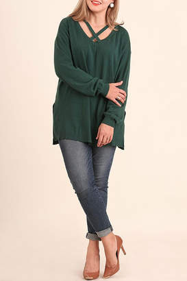 Umgee USA Hunter Green Top