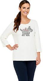 Factory Quacker QuackerFactory Sparkle&Shine Holiday Motifs 3/4Sleeve T-shirt