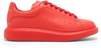Alexander McQueen Raised Sole Low Top Leather Trainers - Mens - Red