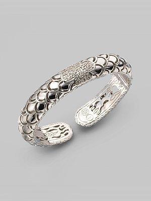 John Hardy Diamond & Sterling Silver Bracelet