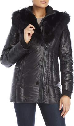Atelier Noir By Rudsak Franca Real Fur Hooded Parka