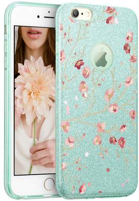 Hovisi® Glitter Crystal Case TPU+Glitter Paper+PP Inner Layer Back Cover for iPhone 7/7plus