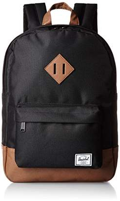 Herschel (ハーシェル) - [ハーシェルサプライ] リュックサック HERITAGE YOUTH 10245-00001-OS BLACK/TAN SYNTHETIC LEATHER