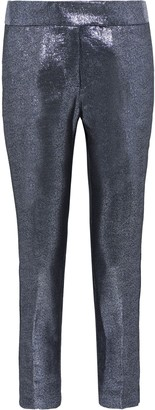 Rachel Zoe Dani Cropped Lame Slim-leg Pants