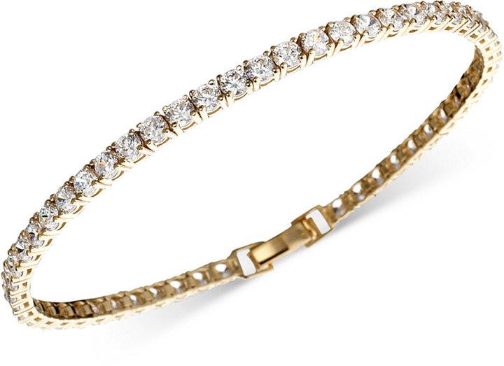 Crislu Bracelet, Gold over Sterling Silver Cubic Zirconia Tennis (5-1/5 ct. t.w.)