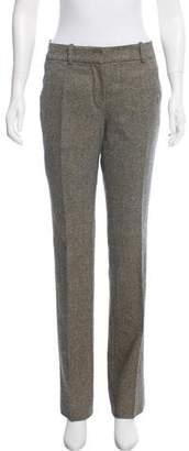 Hermes Herringbone Mid-Rise Pants