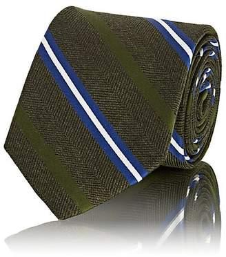 Fairfax Men's Striped Herringbone-Weave Silk Necktie