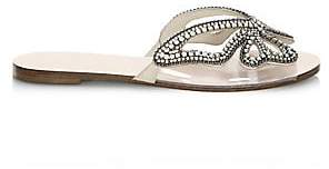 Sophia Webster Women's Madame Butterfly Crystal Suede Slides Sandals