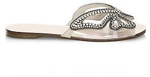 Sophia Webster Women's Madame Butterfly Crystal Suede Slides Sandals