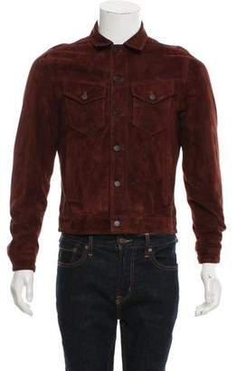 The Kooples Suede Button-Up Jacket