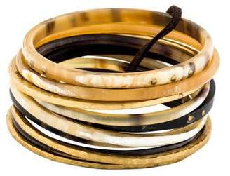 Ashley Pittman Bamba Horn Bangle Set of Ten