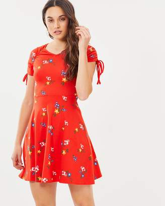 Dorothy Perkins Floral Drawstring Skater Dress