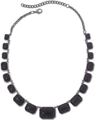 MIXIT Mixit Hematite & Jet Black Square Collar Necklace