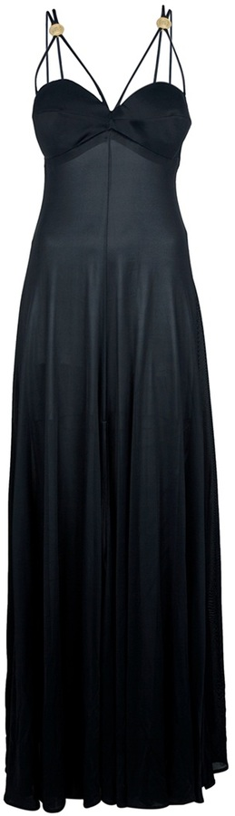 Versace Vintage draped evening gown