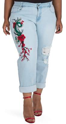 Justice Poetic Halle Embroidered Jeans