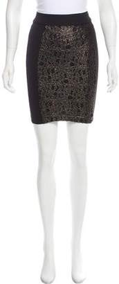Torn By Ronny Kobo Contrasted Knee-Length Skirt