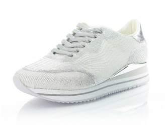 Crime London Silver Platform Sneaker