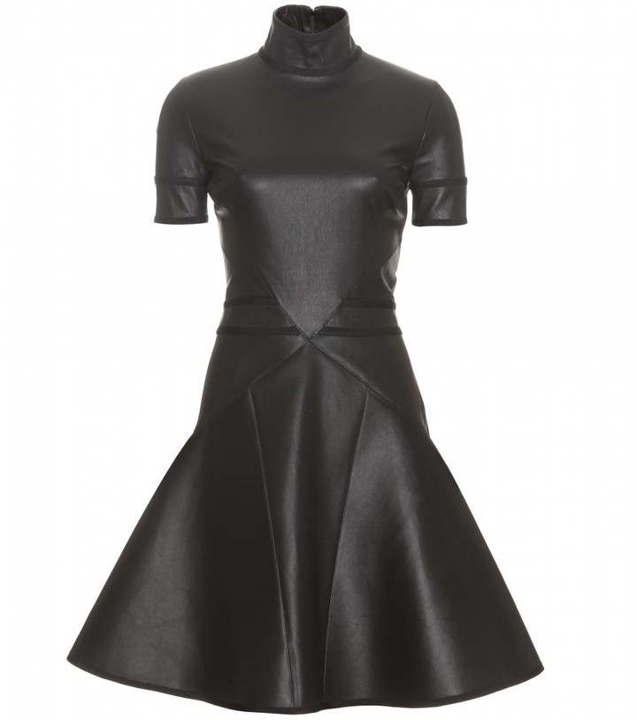 Givenchy FIT-AND-FLARE LEATHER DRESS