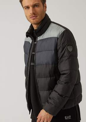 Emporio Armani Ea7 Technical Fabric Quilted Padded Jacket