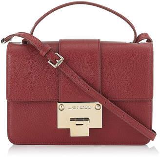 Jimmy Choo REBEL Red Grainy Calf Leather Cross Body Bag