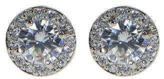 Kenneth Jay Lane CZ By Prong Set CZ Halo Stud Earrings
