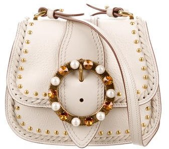 Miu Miu Miu Miu 2017 Embellished Lady Saddle Bag