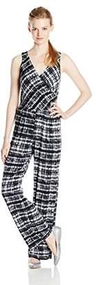 Gabby Skye Women's Sleeveless V Neck Printed Jumpsuit