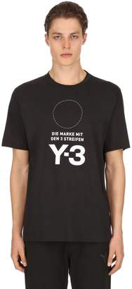 Y-3 Stacked Logo Cotton Jersey T-Shirt