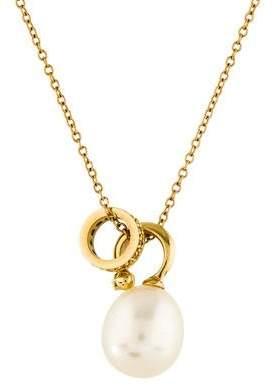 Mizuki 14K Pearl & Diamond Pendant