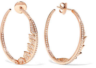 Stephen Webster Magnipheasant 18-karat Rose Gold Diamond Hoop Earrings
