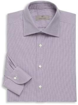 Canali Microdot Cotton Long Sleeve Shirt