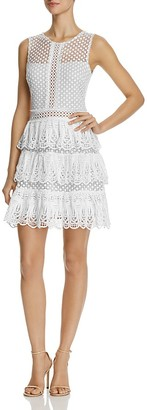 AQUA Lace Sleeveless Tiered Dress - 100% Exclusive $98 thestylecure.com