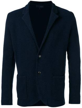 Lardini textured shawl collar jacket