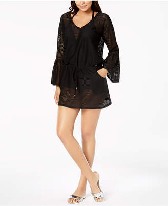 317b704d7217e Calvin Klein Sheer Bell-Sleeve Cover-Up Women Swimsuit