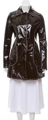 Giamba Vegan Patent Leather Coat