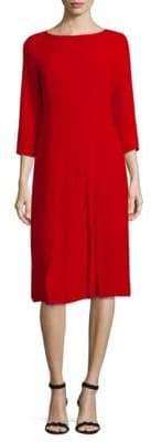 Quarter-Sleeve Silk Dress