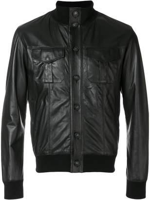 Orciani button-down biker jacket