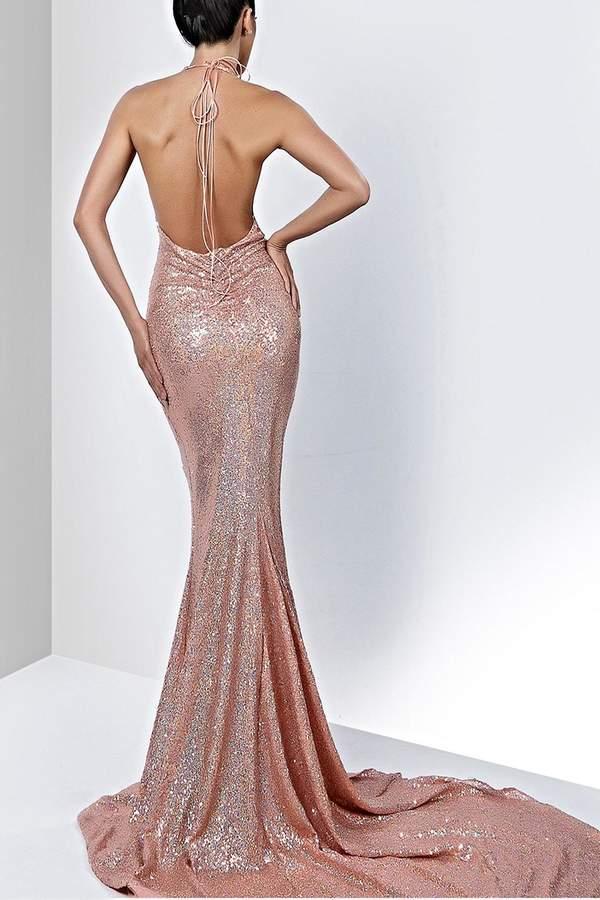 Savee Couture Savee Sequin Maxi Dress