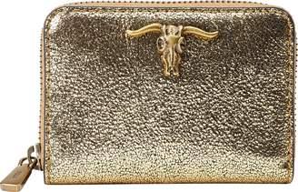 Ralph Lauren Metallic Steer-Head Wallet