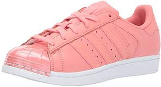 adidas Women's Superstar Metal Toe W Skate Shoe Running Tactile Rose/White