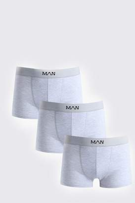 boohoo 3 Pack Grey MAN Boxers