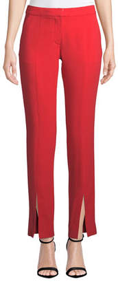 Tanya Taylor Delta Satin Back Crepe Split-Leg Pants