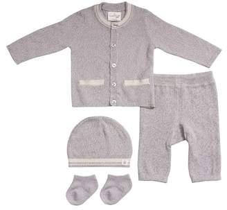 Cuddl Duds Cardigan, Pants, Socks, & Hat Set (Baby Boys)